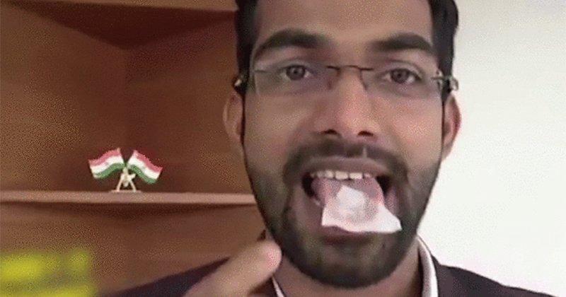 地球有救了!24歲印男發明「可以吃的塑膠」還能泡水喝