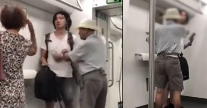 阿伯強逼讓位怒嗆「地鐵規定要讓老人」 乘客傻眼:座位明明就空的