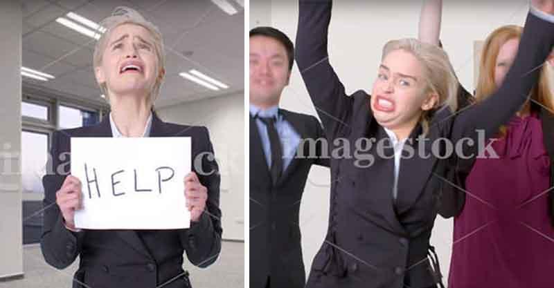 龍母艾蜜莉挑戰拍「圖庫照」!網驚:一個人怎能有這麼多表情