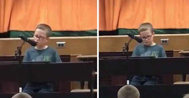 4年級童自彈自唱約翰藍儂名曲 開口天籟美聲感動全場!